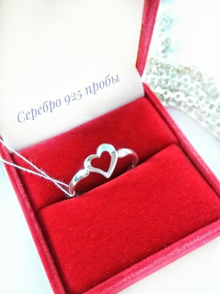Серебряное кольцо р.17.5, колечко, серебро 925 пробы фото №1