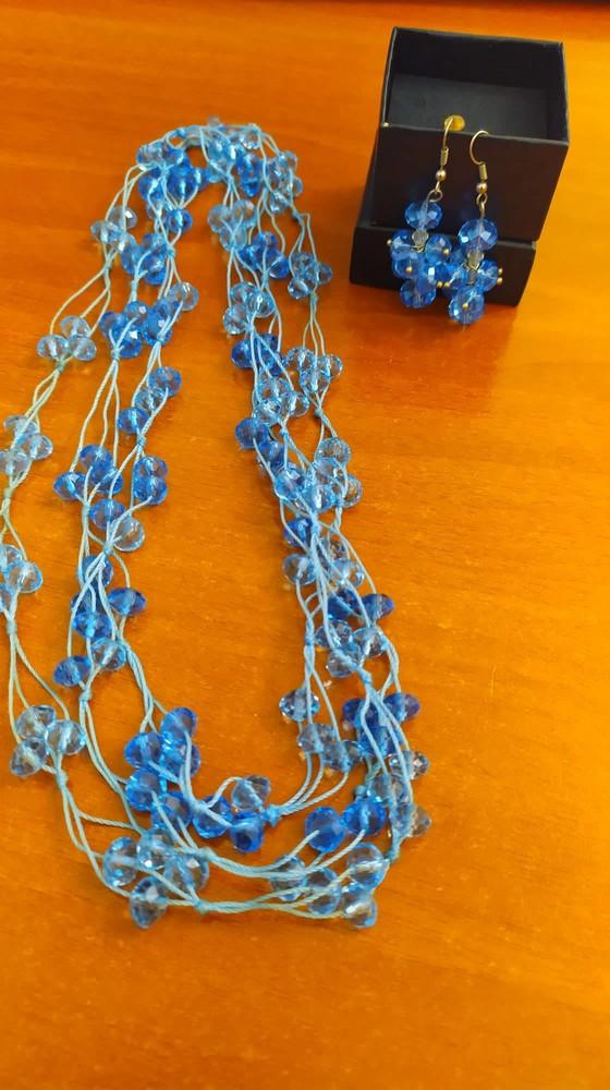 Длинное ожерелье и сережки фото №1