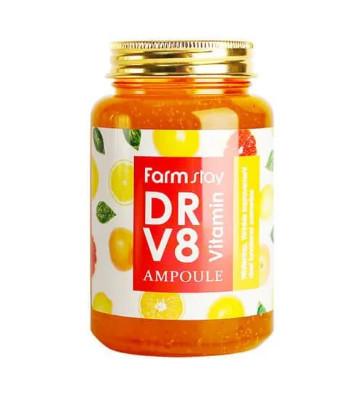Ампульная сыворотка с витаминами farmstay dr-v8 vitamin ampoule фото №1
