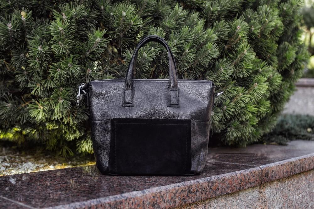Стильная кожаная женская сумка разные цвета фото №1