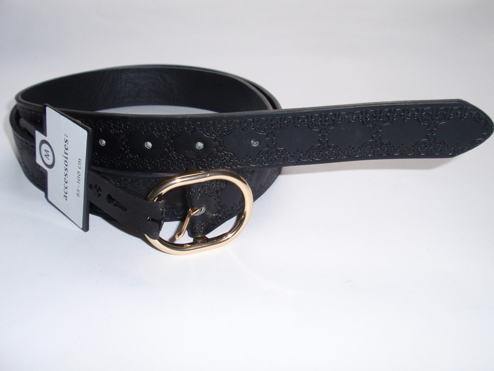 Ремень женский с узорами эко кожа accessoires c&a германия р. m,xl фото №1
