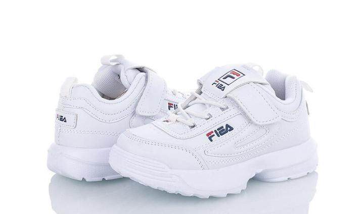 Новые детские 25-37р кроссовки белые fila (копия) киев позняки фото №1