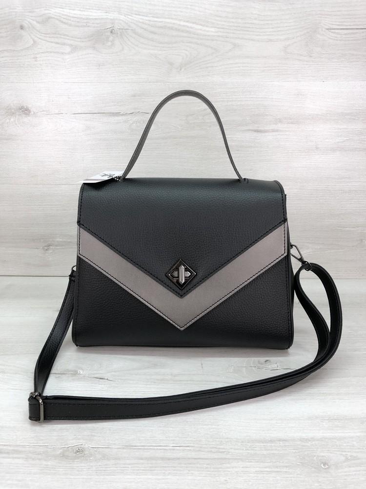 Женская стильная сумка черная фото №1