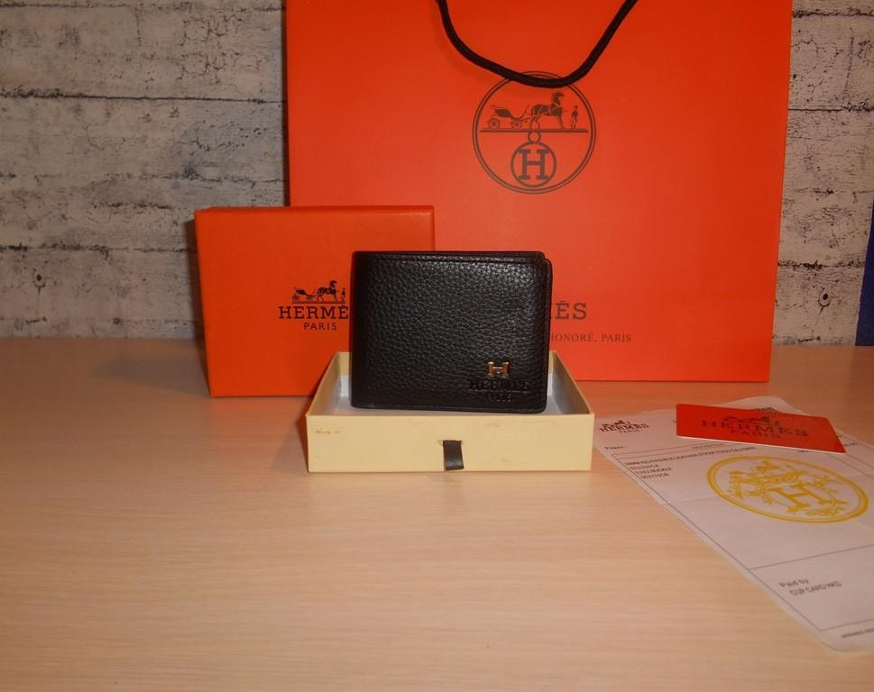 Мужской кошелек, портмоне, бумажник hermes, кожа, франция фото №1