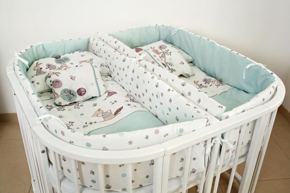 Постельный набор, бортики в кроватку для двойни, близнецов фото №1