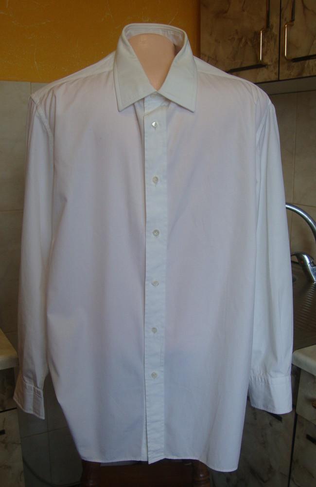 Рубашка белая l 100%котон фото №1