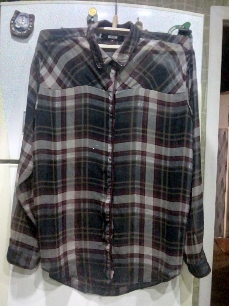 Шифоновая блузка модного принта фото №1