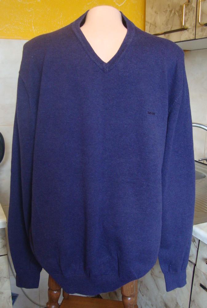 Свитер кофта фиолетовая bison l 85%котон, 15%шерсть фото №1