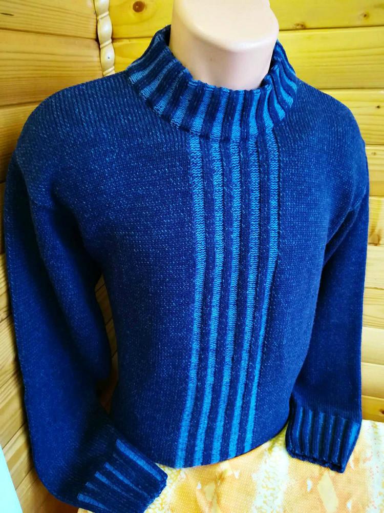 Теплый зимний меланжевый свитер barisal с высоким воротом, оригинал фото №1