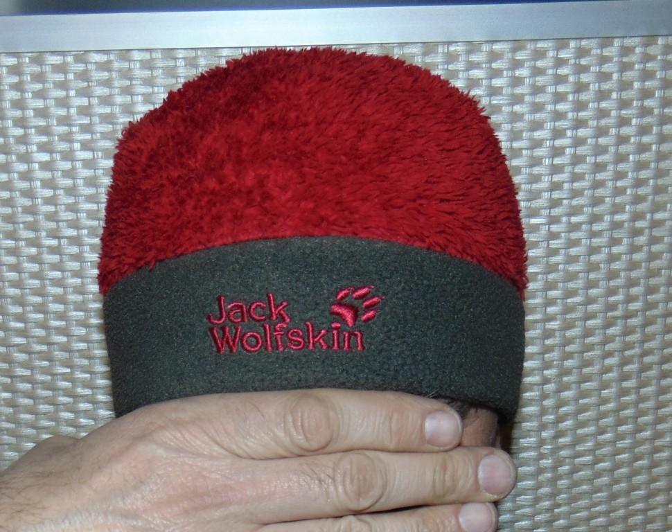 Стильная зимняя шапочка шапка .унисекс jack wolfskin.с-м-л фото №1