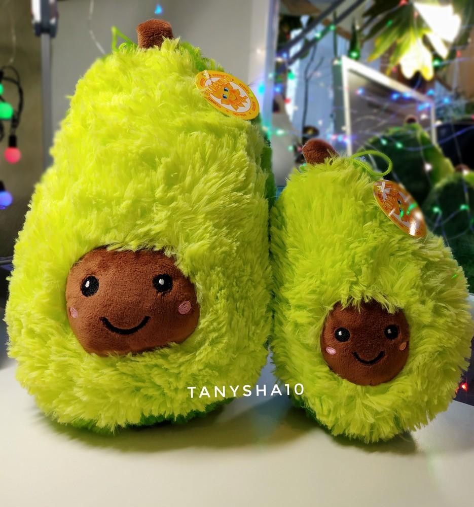 Плюшевая мягкая игрушка подушка антистресс авокадо 20 и 30 см фото №1