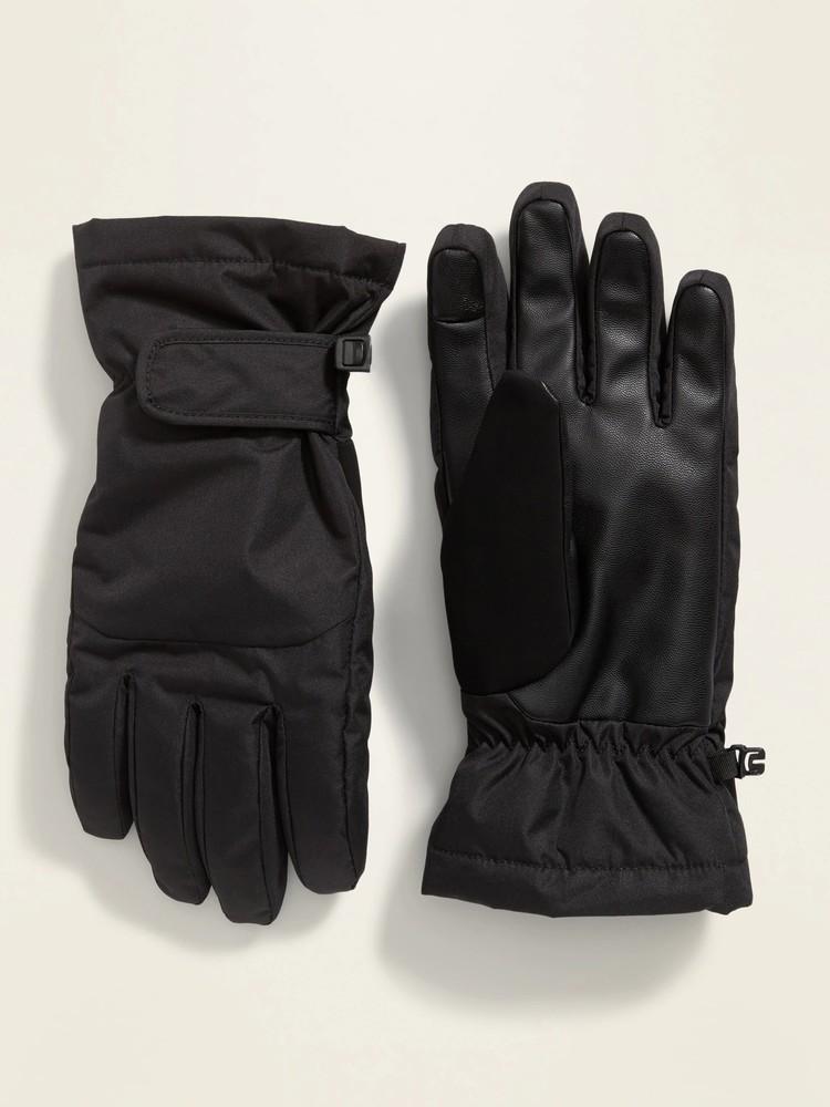 Теплые сенсорные перчатки тачскрин old navy мужские зимние краги олд неви фото №1