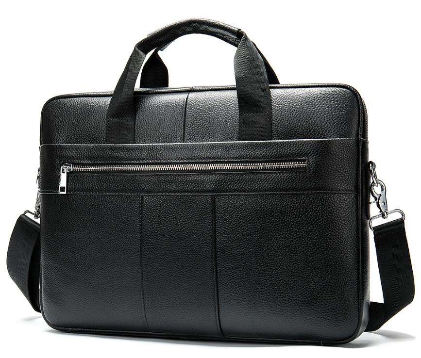 Сумка мужская портфель дипломат 2 из натуральной кожи модель 2020 фото №1