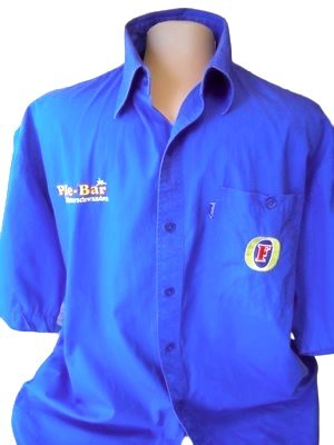Мужская рубашка синего цвета fosters, большой размер, пог-62 фото №1
