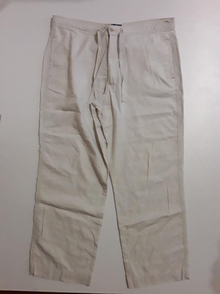 Фирменные полульняные брюки штаны 36р. фото №1