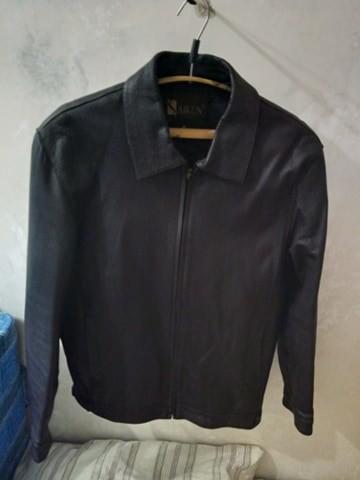 Куртка мужская демисезонная из натуральной кожи размер 48 фото №1