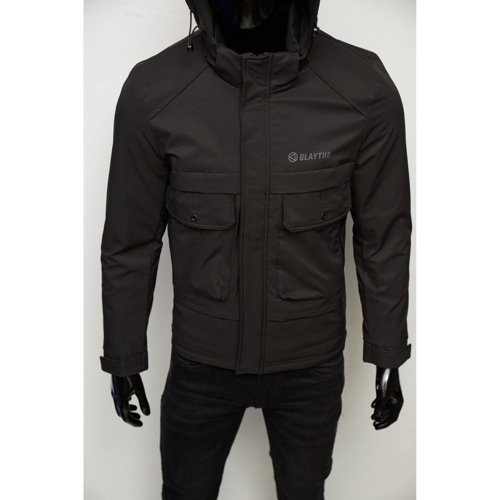 Куртка мужская демисезонная fr 9106 черная фото №1