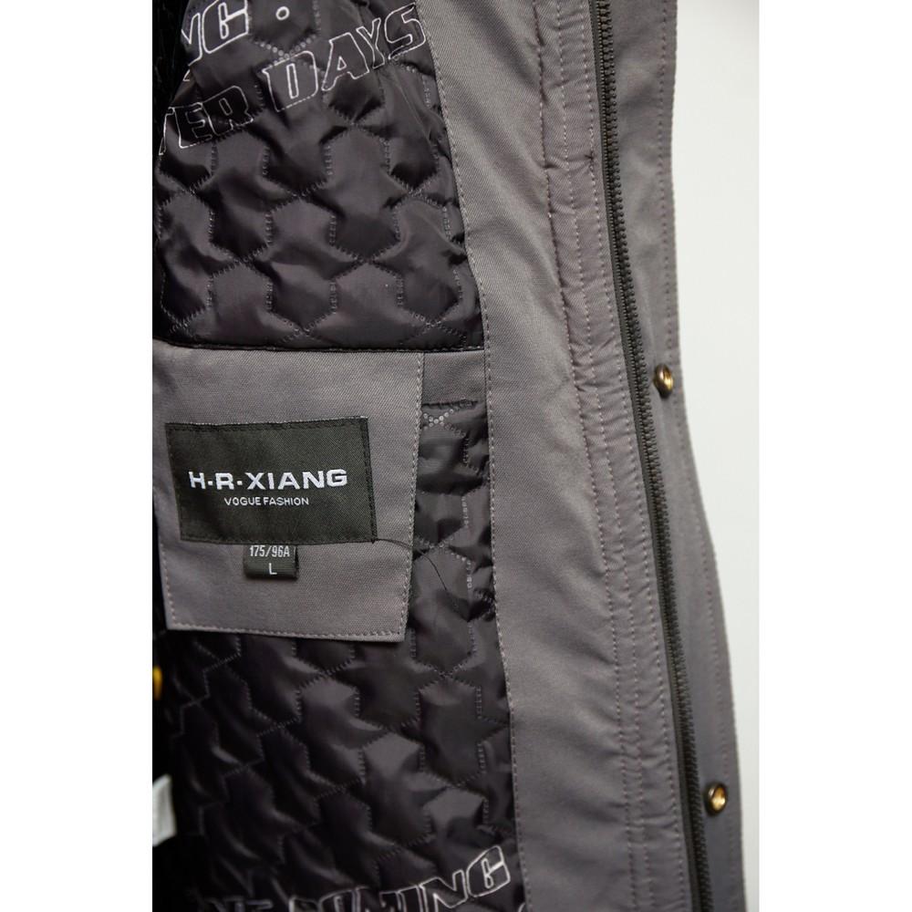 Куртка мужская демисезонная fr 9233 серая с черным фото №1