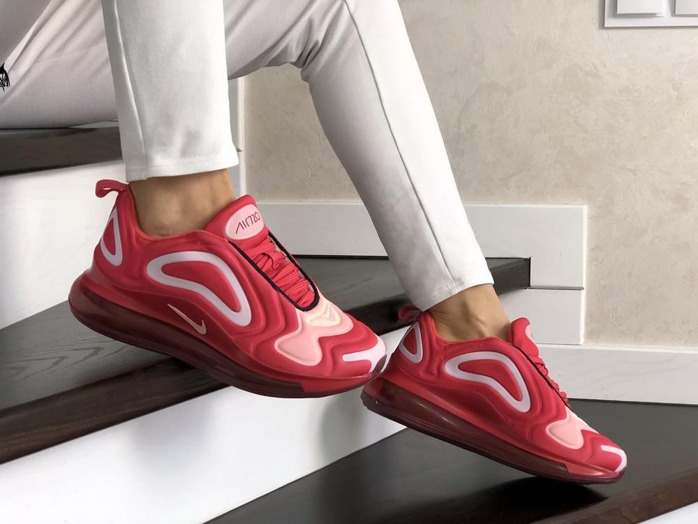 Кроссовки женские nike air max 720 красные фото №1