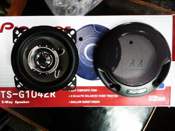 Автоакустика 10 см pioneer 1042 120w фото №1