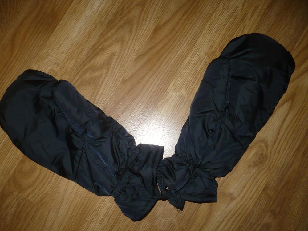 Перчатки рукавицы зимние черные балоневые xl фото №1