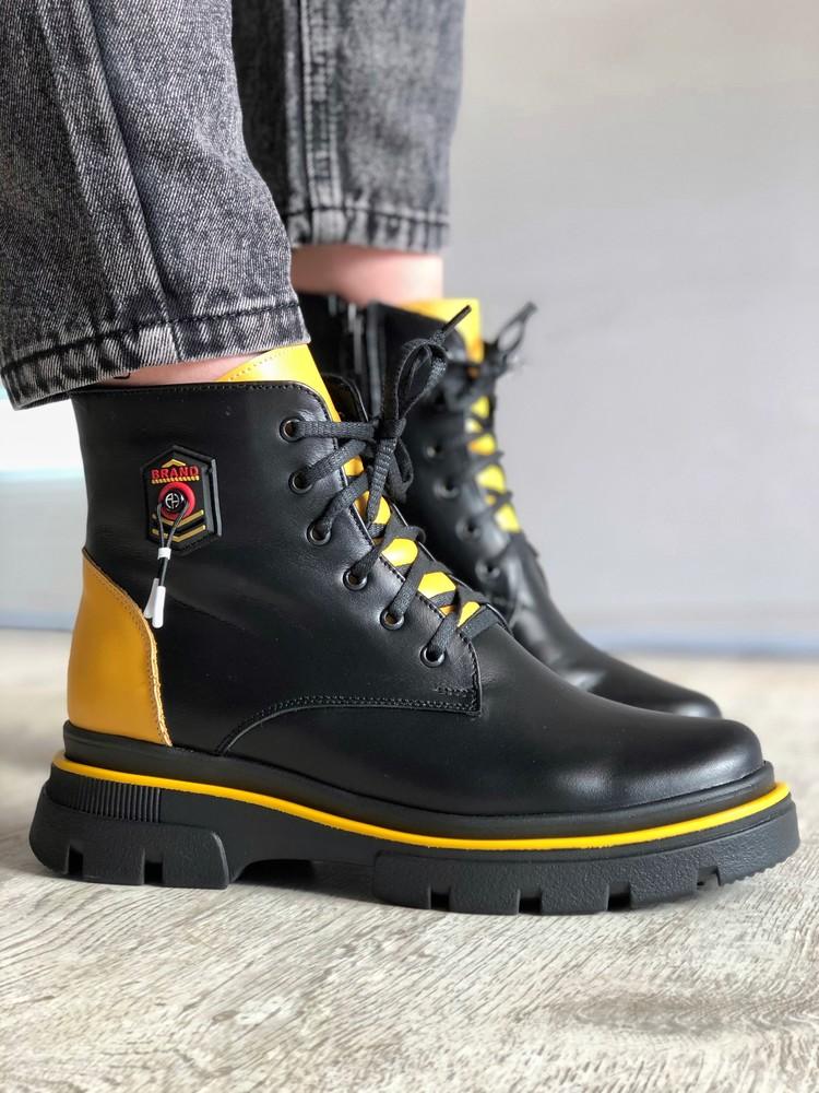 Кожаные женские ботинки / демисезонные фото №1