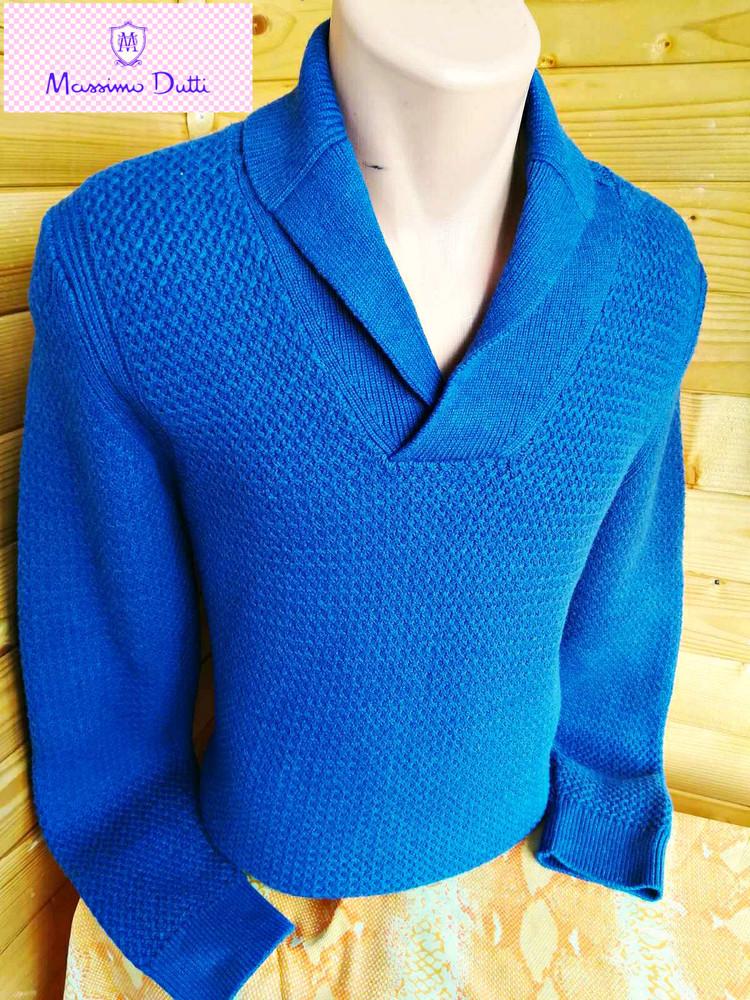 Элегантный модный свитер мassimo dutti с шалевым воротником. фото №1