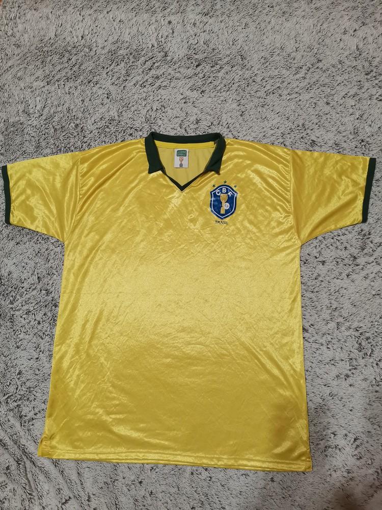 Футболка футбольная , ретро, бразилия, официальный финал кубка мира 1986, score draw фото №1