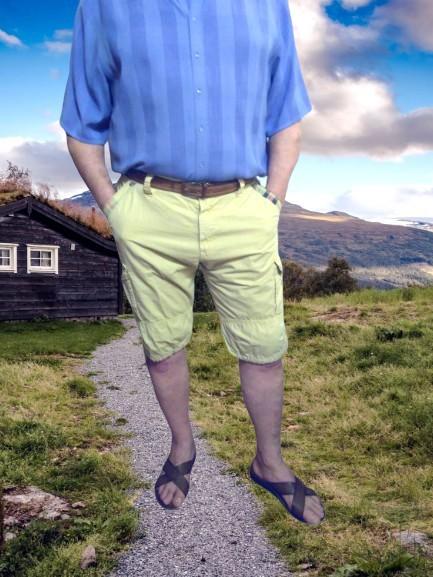 Бежевые длинные мужские шорты perfect, шесть карманов, большой размер, испания. фото №1