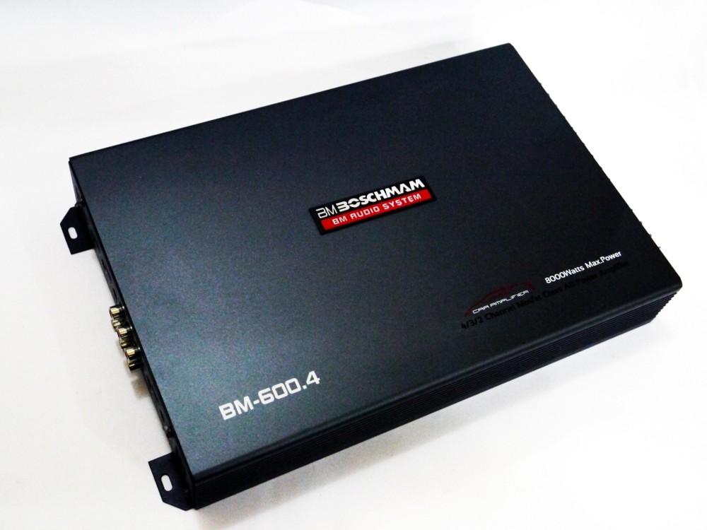 Автомобильный усилитель звука boschman bm audio bm-600.4 8000вт 4-х канальный фото №1