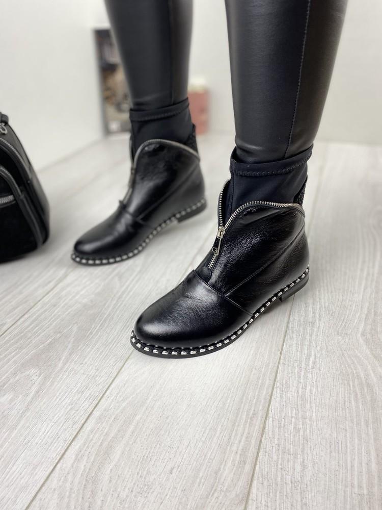 Ботинки женские кожаные демисезонные фото №1