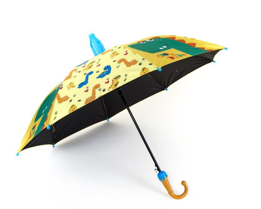 Фантастика! шикарный яркий детский зонт с динозаврами в складном чехле фото №1