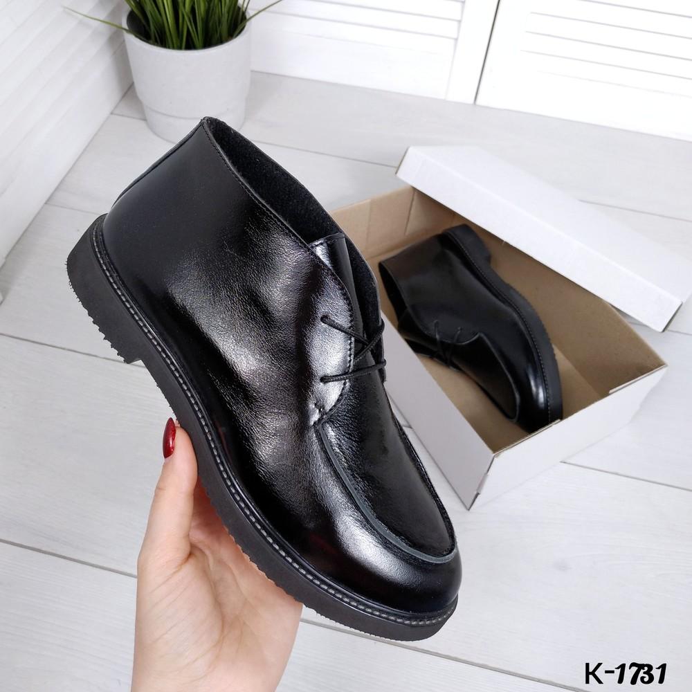 Ботиночки в стиле loro_pian@ натуральная лаковая кожа фото №1