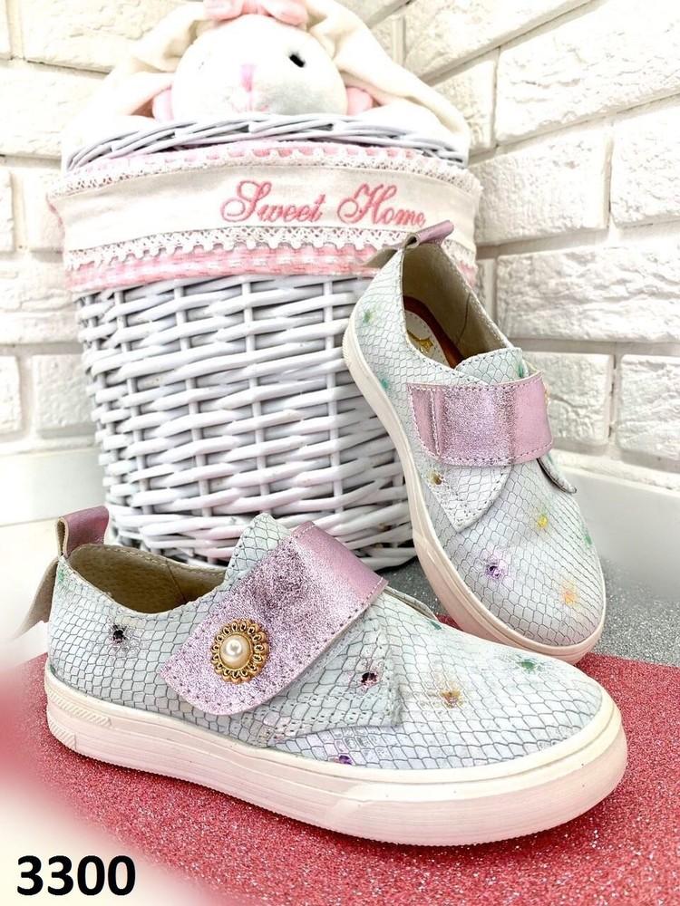 31,32,33,34,35 р кеды слипоны туфли кожаные для девочек подростковая обувь фото №1
