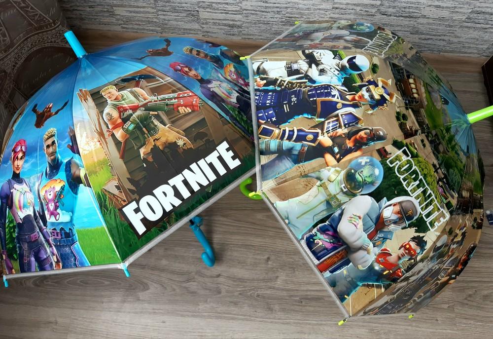 Хит! детский зонт зонтик трость fortnite с героями компьютерных игр фото №1