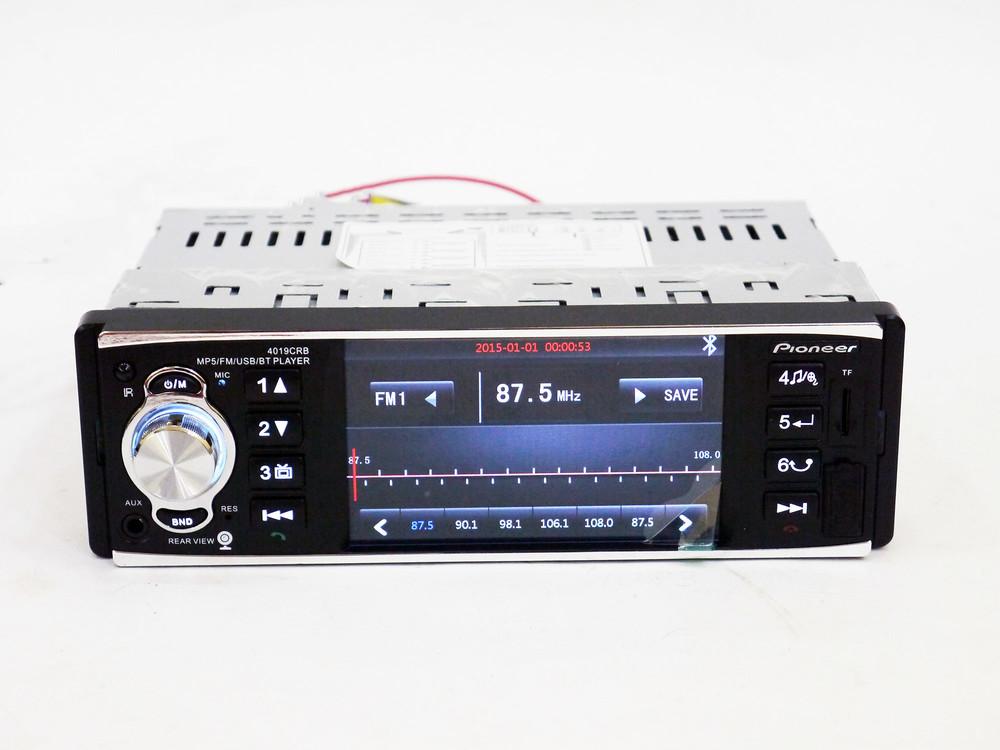 Автомагнитола pioneer 4019 iso - экран 4,1'', divx, mp3, usb, sd, bluetooth фото №1