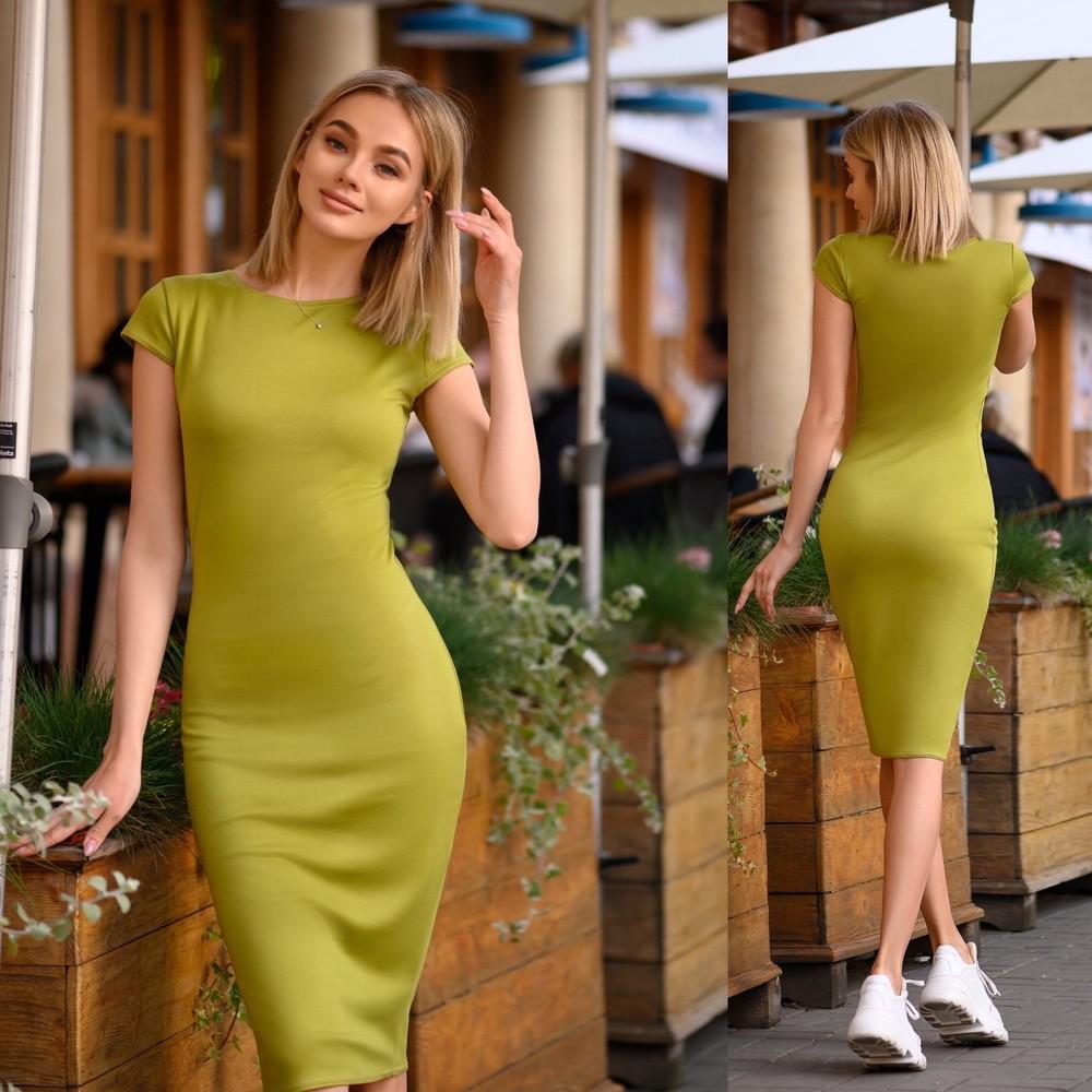 Сукня (40-52рр) класика міді ассортимет кольорів фото №1