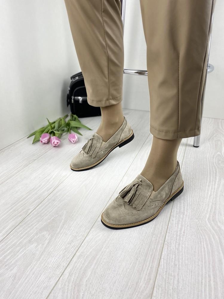 Туфли женские натуральный замш фото №1