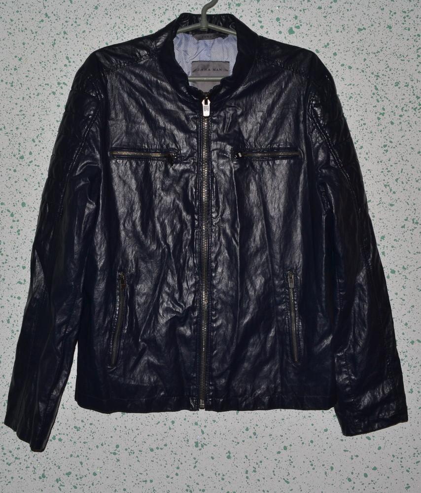 Синяя мужская куртка zara man, р. s фото №1