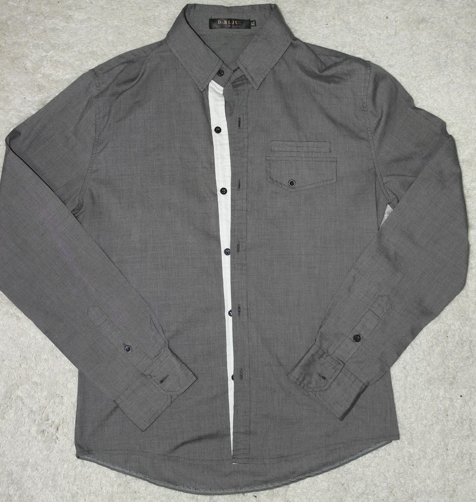 Отличная dablju by jiniy рубашка мужская xl длинный рукав slim fit фото №1