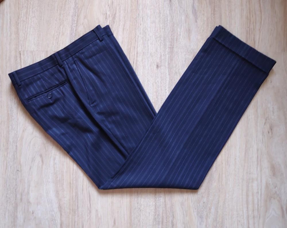 Мужские шерстяные классические брюки we фото №1