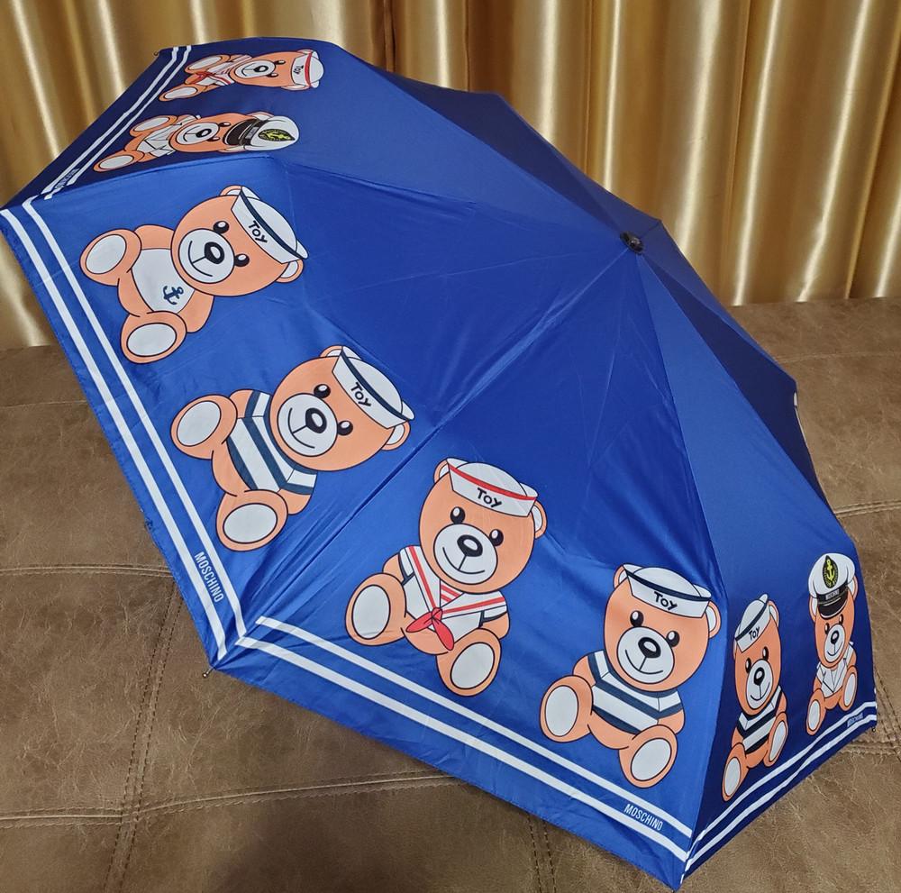 Яркий, стильный брендовый зонт moschino фото №1