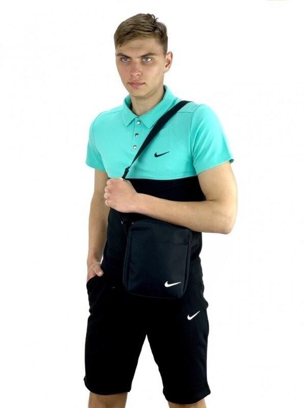 Костюм мужской nike шорты, футболка барсетка в подарок 3 цвета, s-xxl фото №1