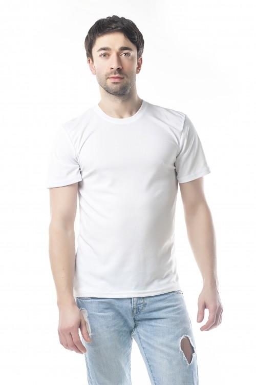 Белая футболка для сублимации(нанесение накаток) фото №1
