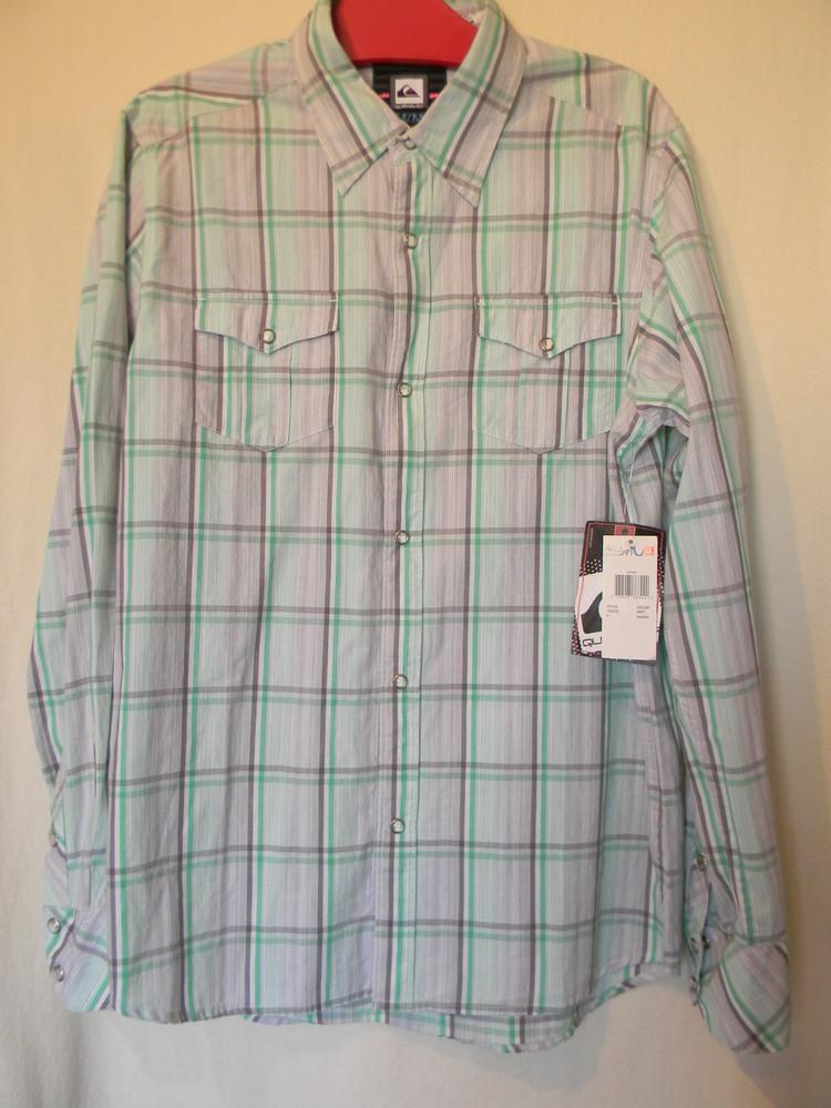 Мужская рубашка с длинным рукавом quiksilver р.м хлопок фото №1