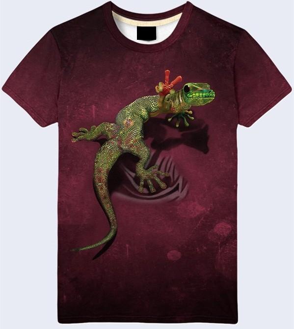 Мужская футболка 3d lizard большой выбор фото №1