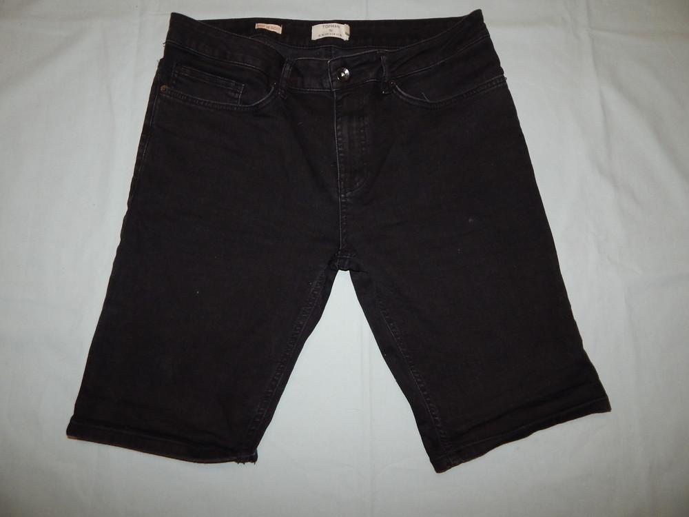 Topman шорты мужские джинсовые модные р36 рl чёрные spray on short фото №1