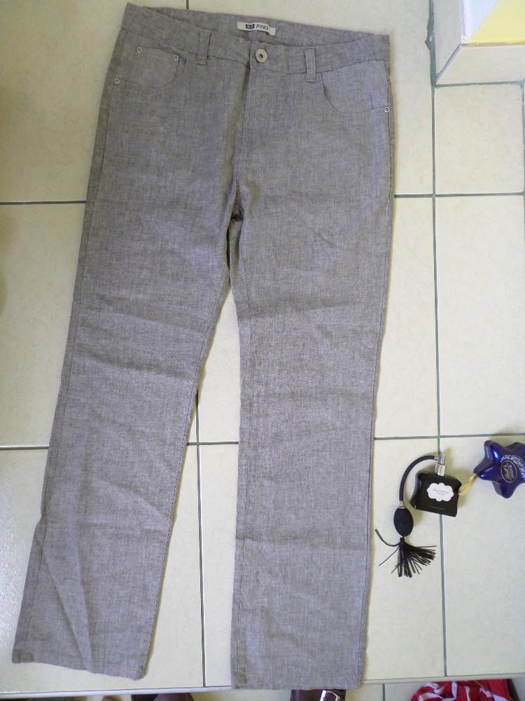 Ping літні тонкі натуральні штани l-m фото №1