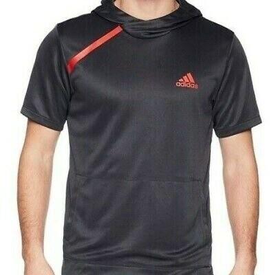 Фирменная adidas sports shooter charcoal short sleeve hoodie fr/bk print ce6921 на размер 50-52 фото №1