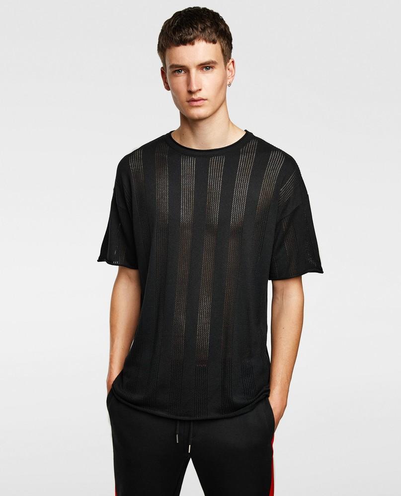 Базовая черная футболка от zara man фото №1